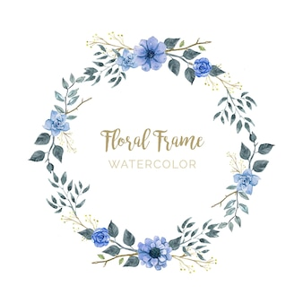 Eleganter Blumenrahmen