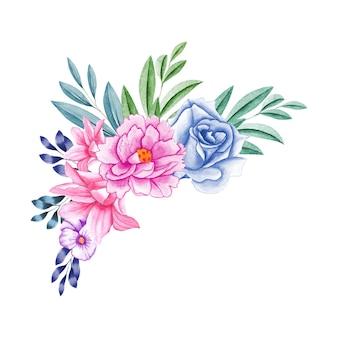 Eleganter blumenstrauß mit schöner blume