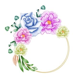Eleganter blumenstrauß mit wunderschöner zarter rosa rose