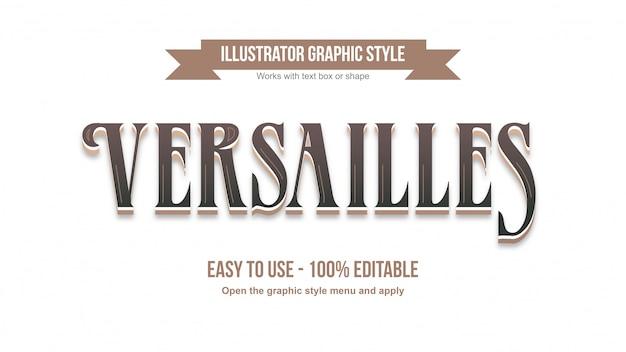 Eleganter brauner retro-serifen-bearbeitbarer 3d-texteffekt