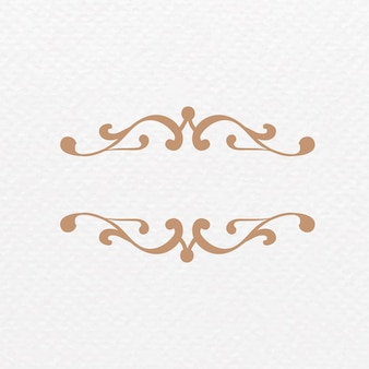 Eleganter bronzefarbener ornamentrahmen