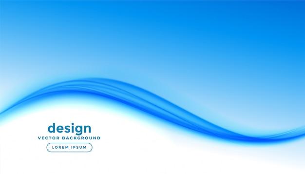Eleganter business-stil blaue welle präsentationshintergrund