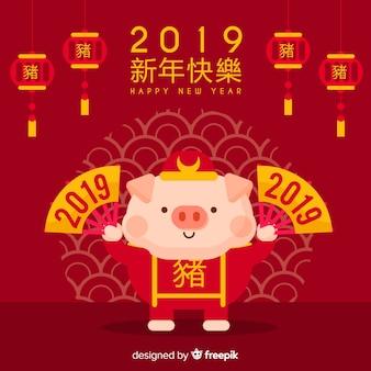 Eleganter chinesischer Hintergrund des neuen Jahres