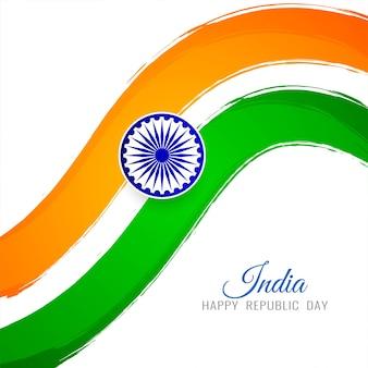 Eleganter dekorativer Hintergrund des indischen Flaggenthemas