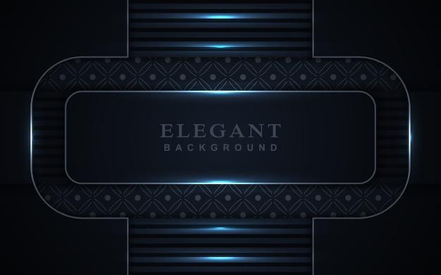 Eleganter dunkelblauer hintergrund mit heller dekoration