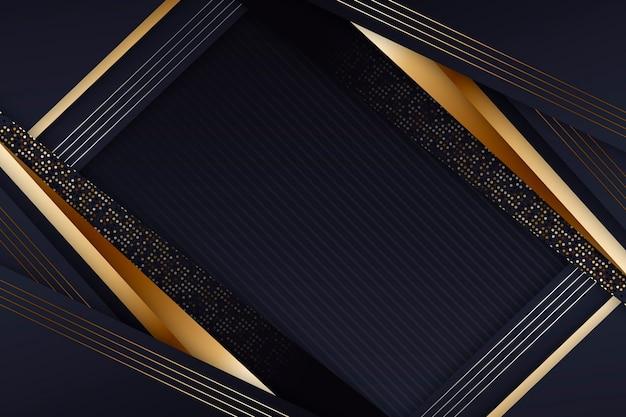 Eleganter dunkler bildschirmschoner mit goldenen details