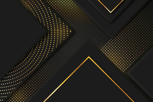 Eleganter dunkler hintergrund mit gold führt thema einzeln auf