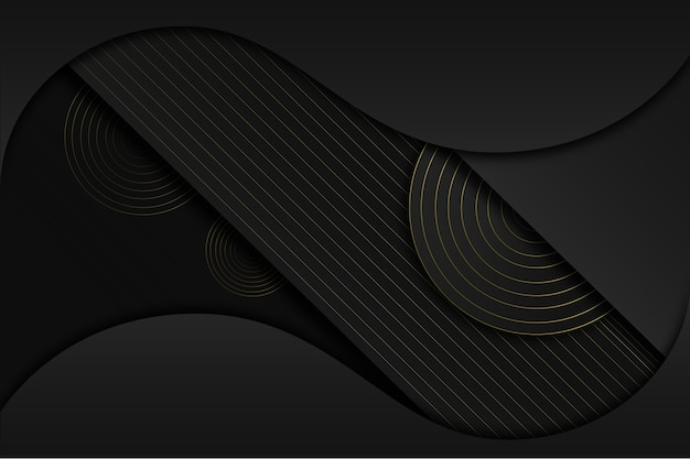 Eleganter dunkler hintergrund mit goldenem detailkonzept