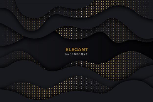 Eleganter dunkler hintergrund mit goldenen details