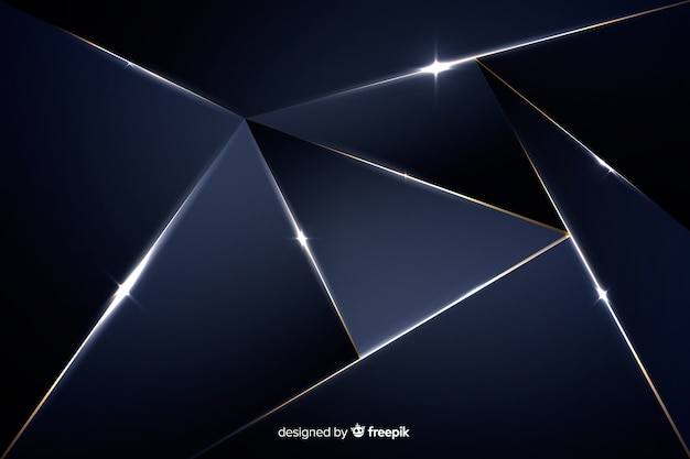 Eleganter dunkler hintergrund mit polygonalen formen