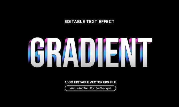 Eleganter farbverlaufstexteffekt weißer bearbeitbarer schrifttexteffekt zum verkauf zahltag