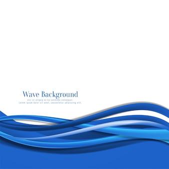 Eleganter fließender blauer wellenhintergrund
