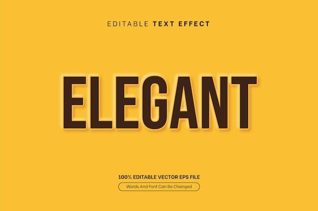 Eleganter gelber geprägter ausschnitt-texteffekt bearbeitbarer textstileffekt