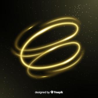Eleganter glänzender goldener spiraleffekt