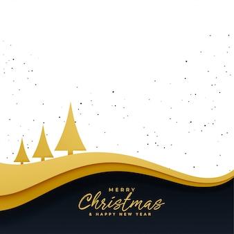 Eleganter goldener schöner hintergrund des weihnachtsbaums