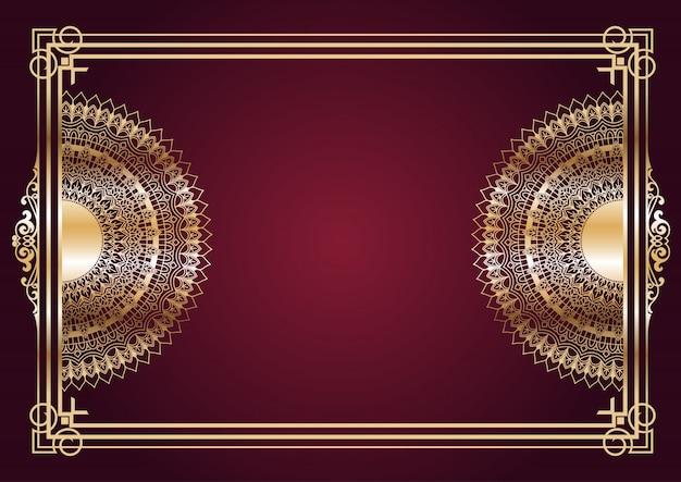 Eleganter goldmandala-designhintergrund