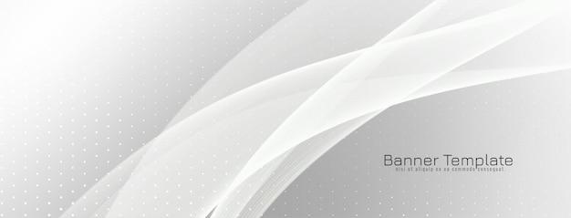 Eleganter grauer banner-designvektor der wellenart wave