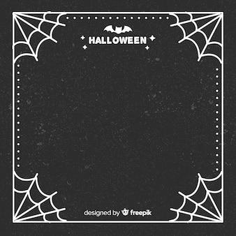 Eleganter halloween-rahmen mit flachem design