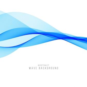 Eleganter hintergrund der abstrakten blauen welle