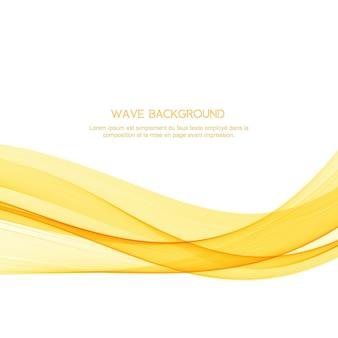 Eleganter hintergrund der abstrakten gelben welle