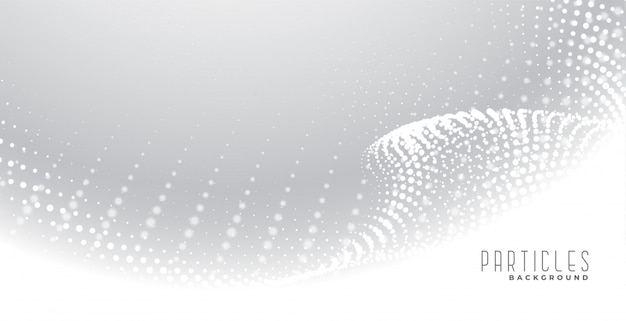 Eleganter hintergrund der weißen abstrakten teilchen
