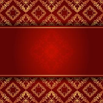 Eleganter hintergrund in rot und gold