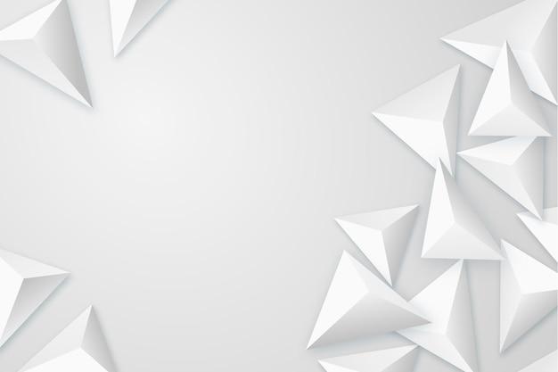 Eleganter hintergrund mit 3d-polygonen