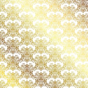 Eleganter hintergrund mit einem dekorativen goldmuster