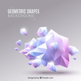 Eleganter hintergrund mit geometrischem design