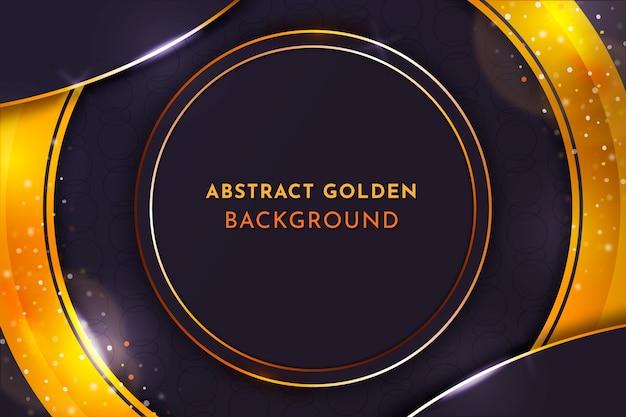 Eleganter hintergrund mit goldenen details
