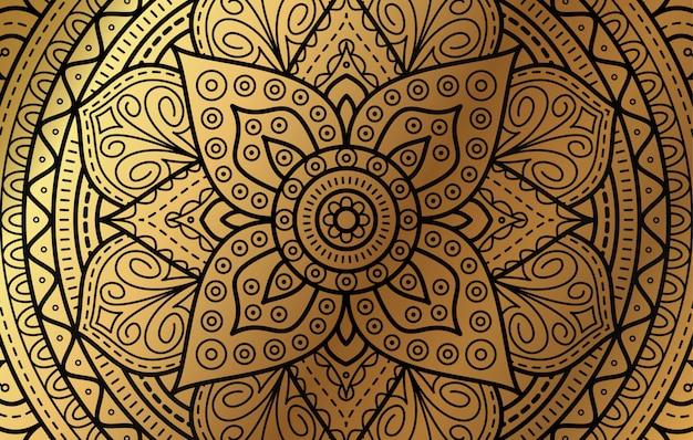 Eleganter hintergrund mit goldluxusblumenmuster