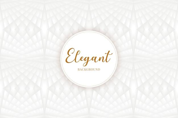 Eleganter hintergrund mit polygonen in weiß