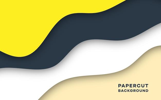 Eleganter hintergrundentwurf des modernen abstrakten papierschnittstils