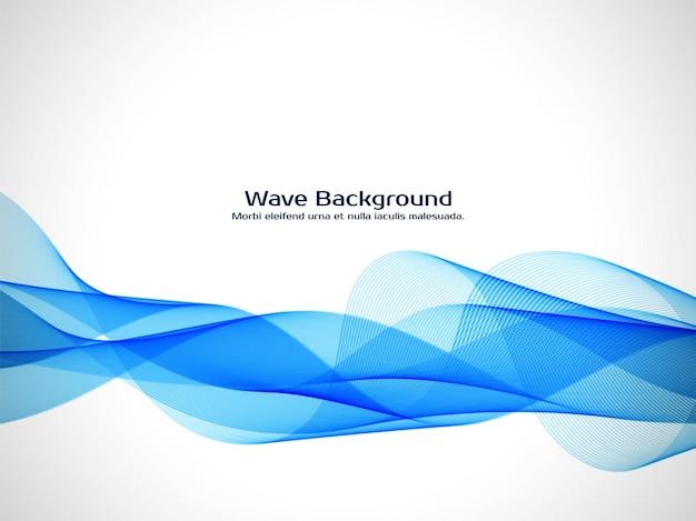 Eleganter hintergrundvektor der abstrakten blauen welle