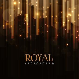 Eleganter königlicher hintergrund mit goldenen stangen effekt