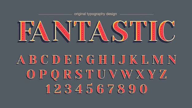 Eleganter kundenspezifischer typografieentwurf