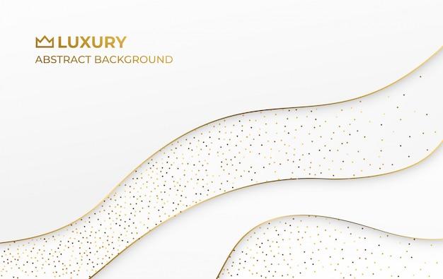 Eleganter luxushintergrund der weißgoldzusammenfassung