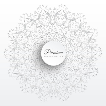 Eleganter mandala-dekorationskunsthintergrund