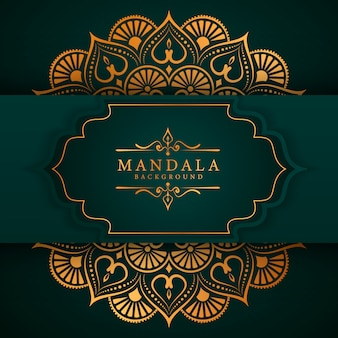 Eleganter mandala-hintergrund des ramadan-art-luxus