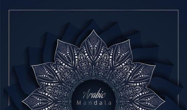 Eleganter mandala-hintergrund