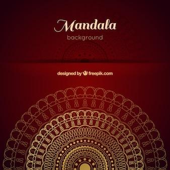 Eleganter mandalahintergrund mit luxuriöser art