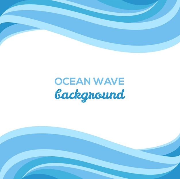 Eleganter meereswellen-hintergrund