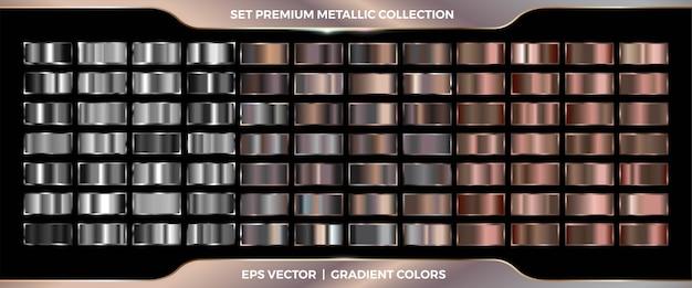 Eleganter metallischer farbverlauf in silber und bronze