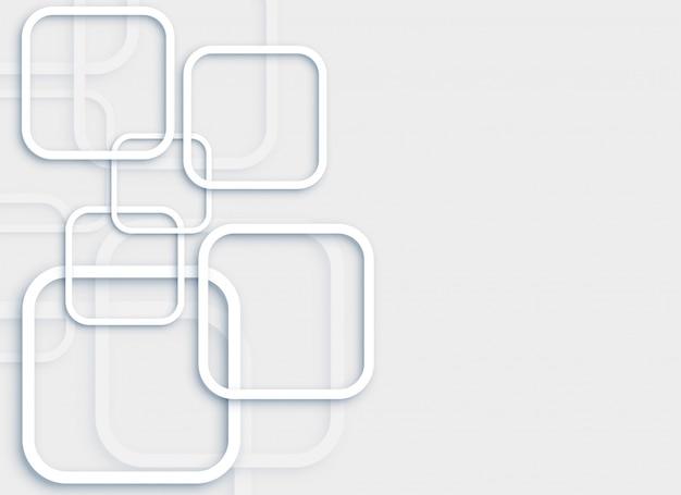 Eleganter minimaler grauer hintergrund mit quadraten 3d