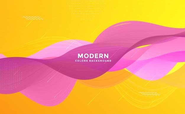 Eleganter moderner abstrakter hintergrund rosa und gelb