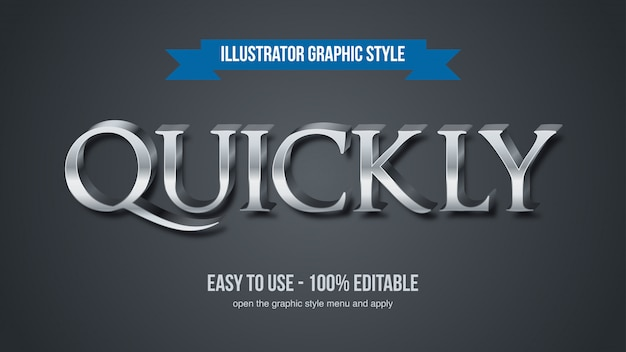 Eleganter moderner metallic steel serif typografie-effekt