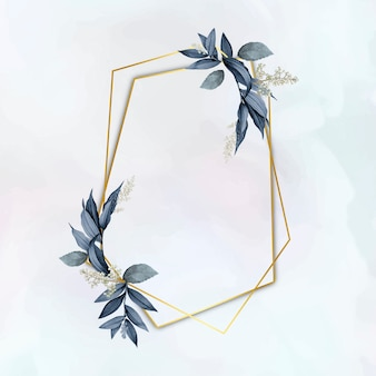 Eleganter pflanzenblattrahmen