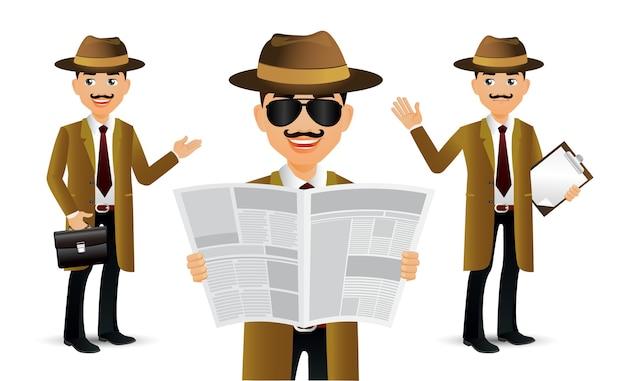 Eleganter professioneller detektiv