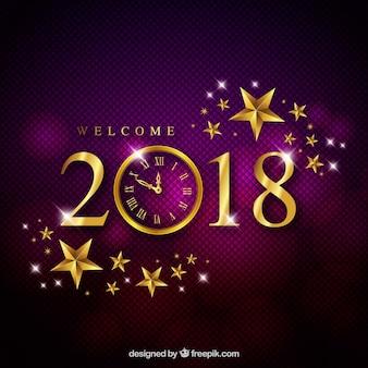 Eleganter purpurroter Hintergrund des neuen Jahres
