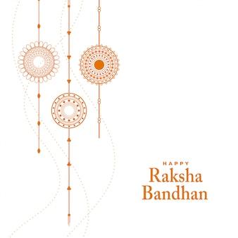 Eleganter raksha bandhan festival hintergrund mit rakhi